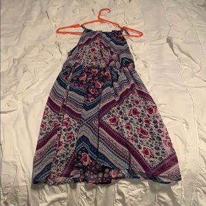 Blue/Purple paisley dress